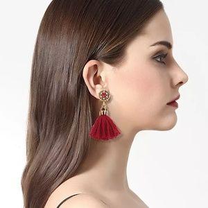 🎉LAST CHANCE 🎉 Earrings Tassel Red Jewel
